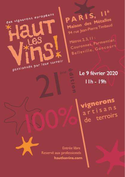 SALON HAUT LES VINS PARIS LE 09022020